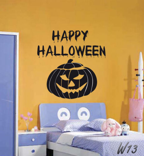 Happy Halloween Wicked Pumpkin Wall Art Decal Vinyl Sticker