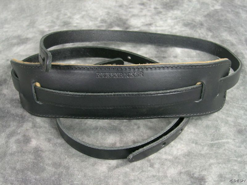 Rickenbacker Leather schwarz Guitar or Bass Strap Authentic Original RIC RIC RIC 3b7ba8