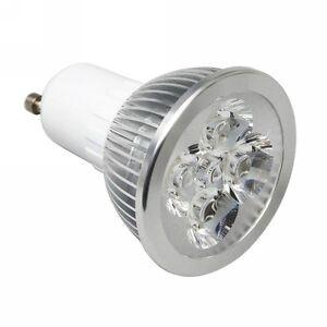 Faretti Basso Consumo.Dettagli Su 10 Lampada Gu10 4w Led Power Led Faretto Luce Bianco Freddo Basso Consumo