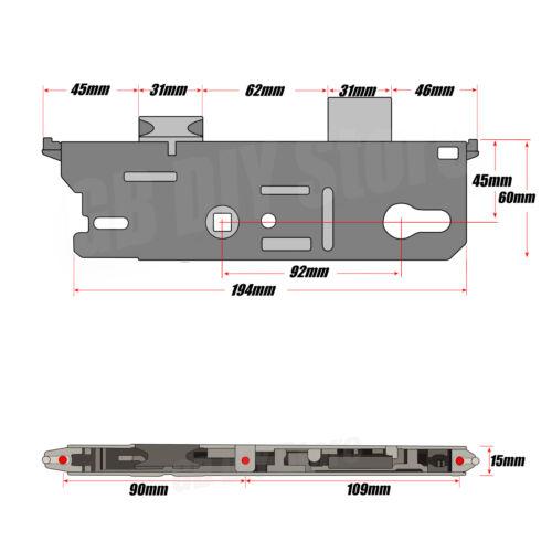 Fuhr remplacement multipoints Serrure De Porte De Boîte De Vitesses Centre Case 45 mm