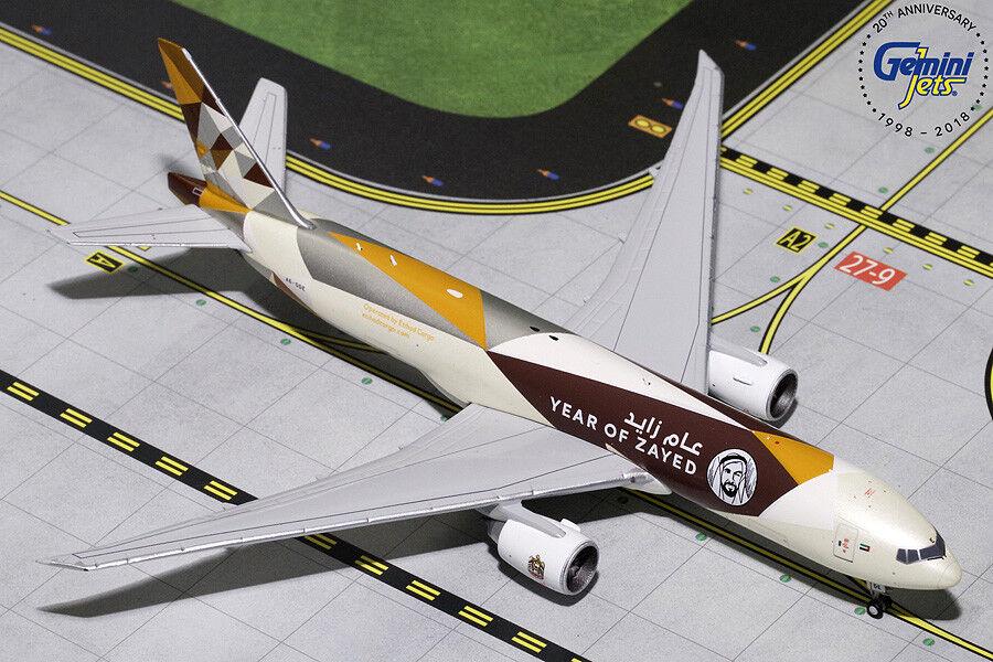 Gemini Jets 1 400 Etihad Cargo Boeing B777-200LR(F) 'Year of Zayed' A6-DDE
