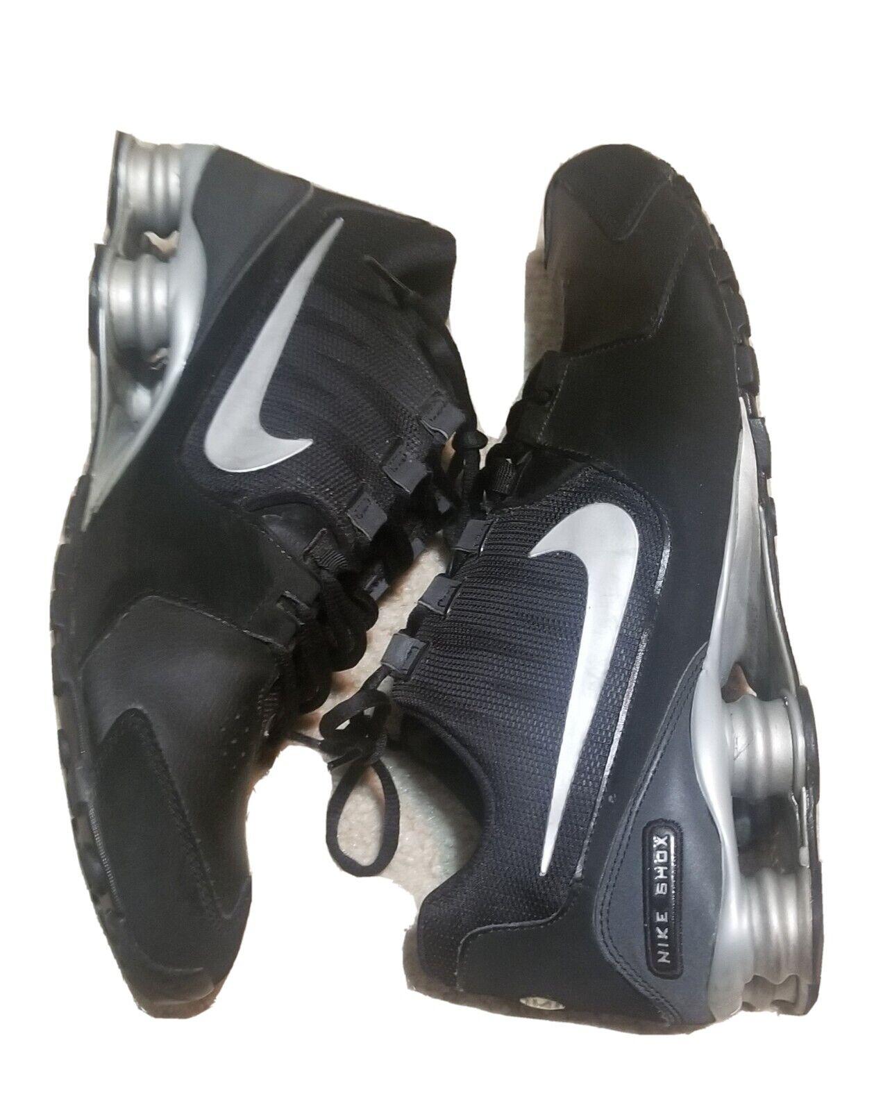 arpón Olla de crack doblado  Nike Shox Avenue Ltr Sz 10 Black Silver 833584 001 for sale online   eBay