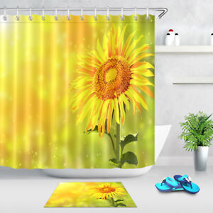 Image Is Loading Bright Yellow Sunflower Sun 71 034 Fabric Shower