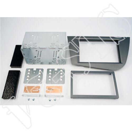 Doble DIN 2-din radio diafragma con bastidor Seat Leon a partir de 2008 plata brillante