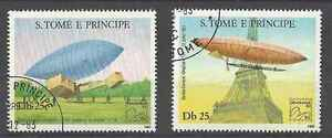 Timbres-Dirigeables-St-Thomas-et-Prince-739-40-o-lot-4934