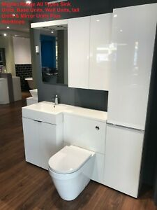 Tremendous Details About Myplan Bathstore Vanity Cabinet Sink Basin Tall Mirror Units White All Sizes Gmtry Best Dining Table And Chair Ideas Images Gmtryco