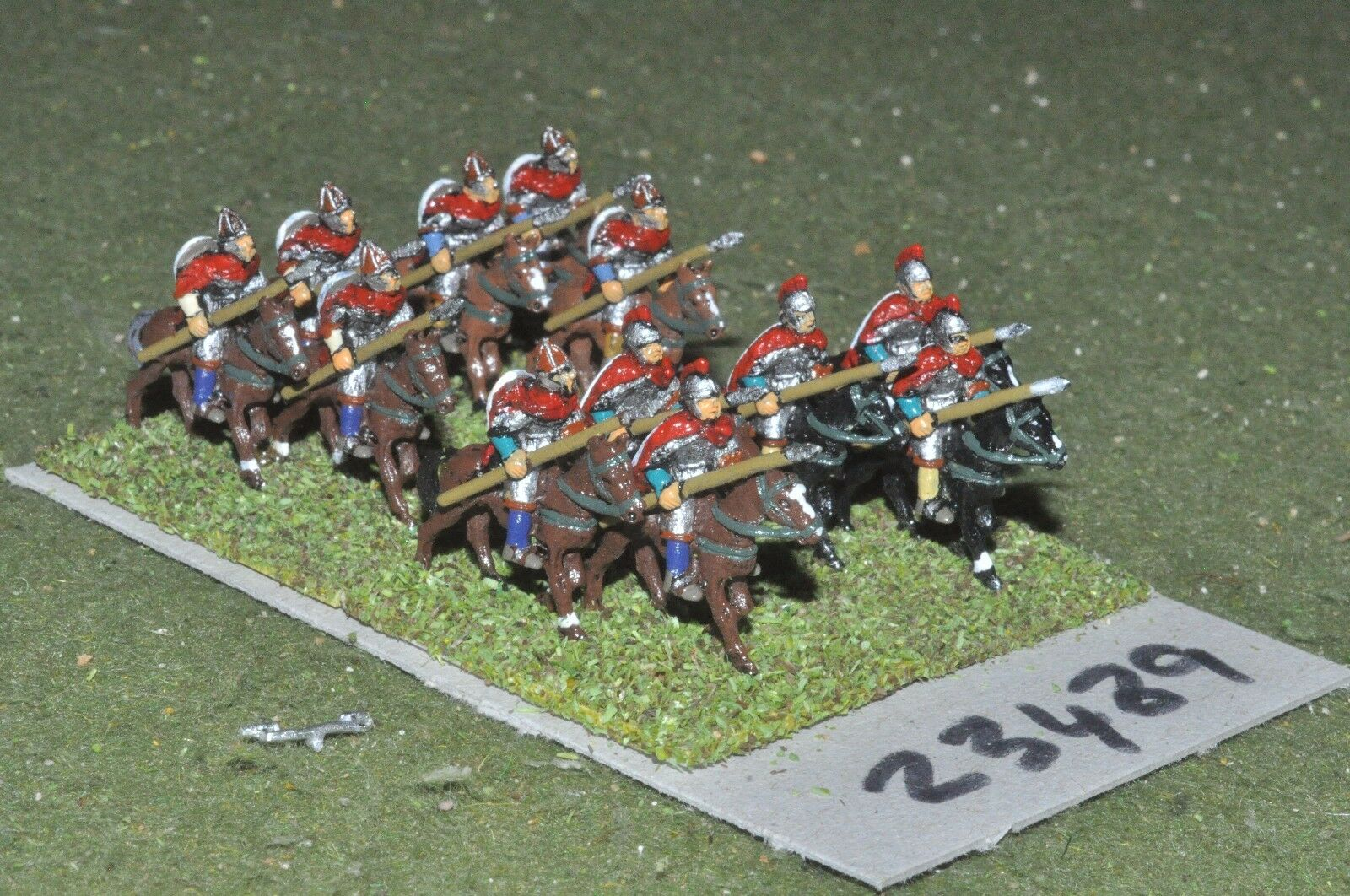 15mm dark ages   british - heavy 12 figures - cav (23489)