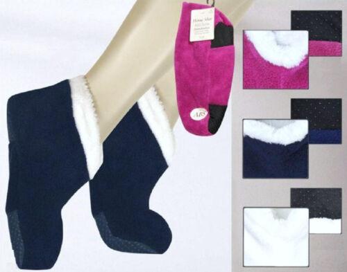 Damen Flauschsocken Home Shoe  ABS-Sohle   1A7