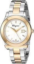 Salvatore Ferragamo Womens FF3170014 1898 Two-Tone Stainless Steel Date Watch