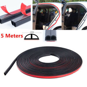 4a6e3d9821ada 2018 5M Black B Shape Car Door Rubber Soundproof Wertherstrip Hollow ...