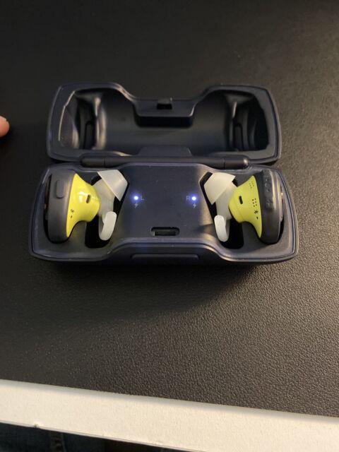 Bose SoundSport Wireless Earbud Headphones - Blue / Citron (perfect Condition)