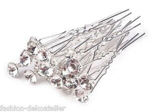 6 strass épingles à cheveux épingles à cheveux Mariée Bijoux de cheveux mariage strass Bijoux de cheveux