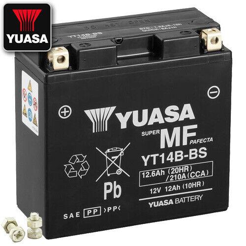 2018 YUASA YT14B-BS AGM Batterie Yamaha FJR1300 //A ABS RP28 Bj