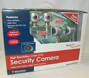 New Wisecomm Oc9604 In Outdoor 4 Camera Color Night Vision