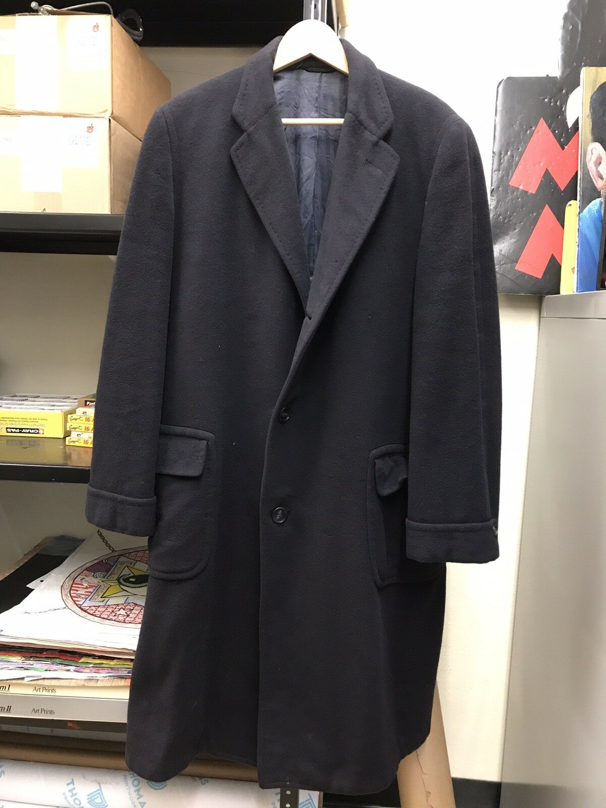 VINTAGE 100% IMPORTED CASHMERE TRENCH COAT HELLER'S MYRTLE AVE BROOKLYN LARGE 42