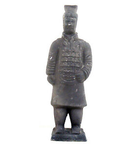 Terracotta Warrior Chinese Clay Xi-An Replica Soldier Statue Oriental Decor #AA4