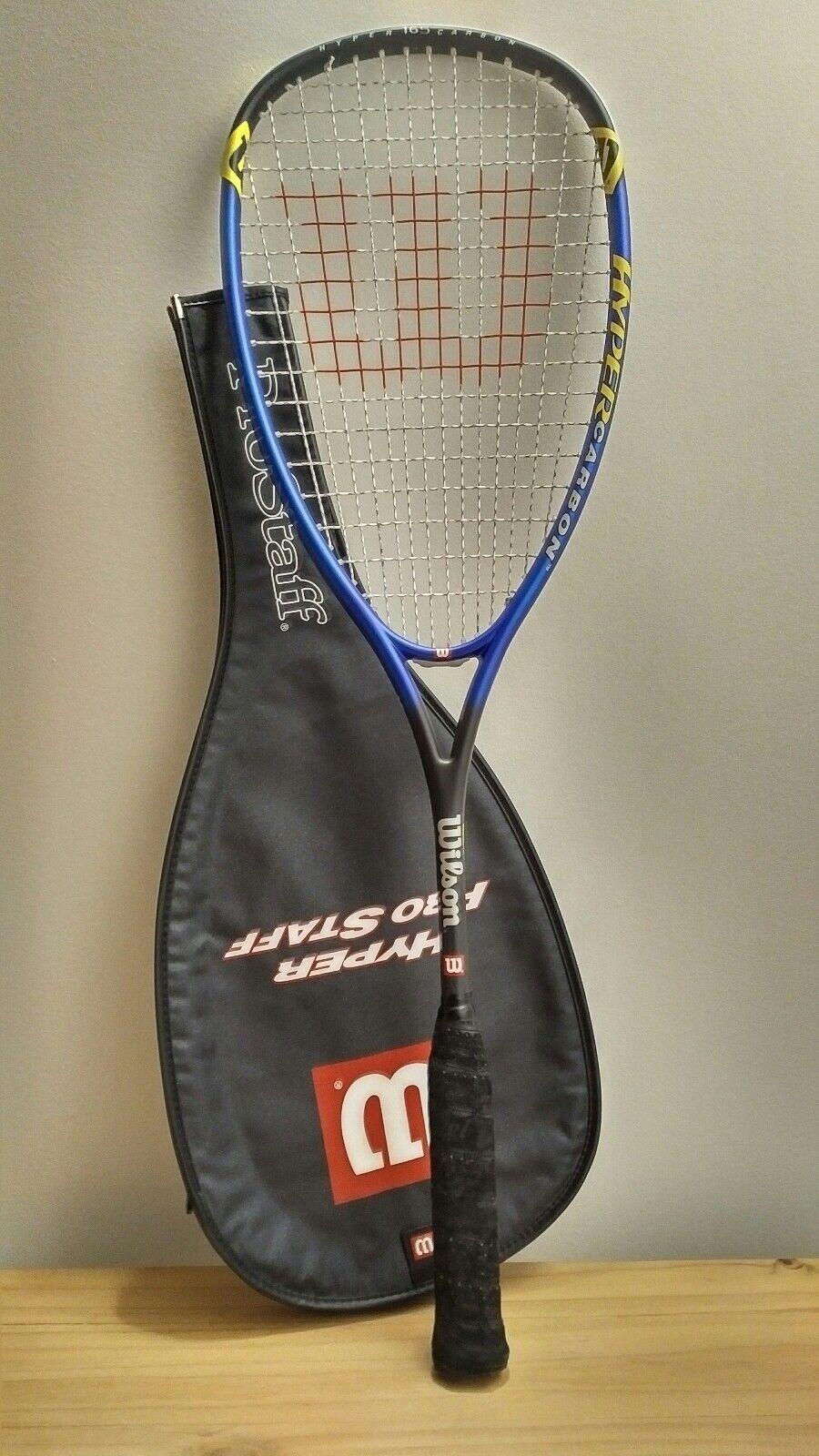 WILSON Hyper Pro Staff - Hyper Carbon 165  Double Braid - Squash Racquet & Cover