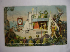 VINTAGE POSTCARD SCENE DEPICTING THE FIRST MASS IN ST. AUGUSTINE FLORIDA 1914