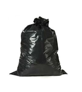 Black Case Of 25, 60 Gallon Contractor Trash Bags 38 x 60 6 Mil Thick
