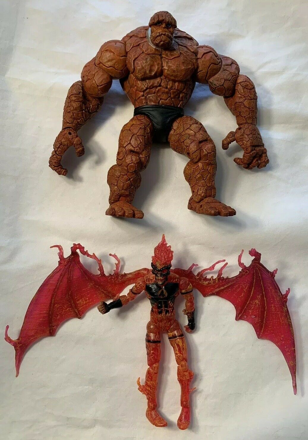 TOYBIZ Marvel Legends HOUSE OF M Box Set THE IT Thing Inhuman Torch Loose Lot