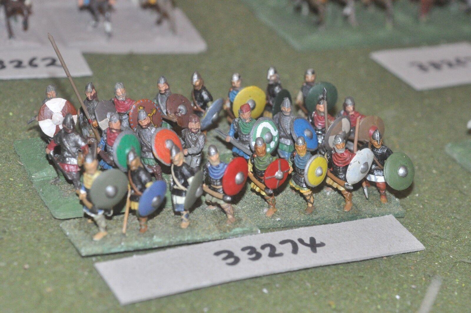 25mm edades Oscuro guerreros anglosajones - 24 figuras-INF (33274)