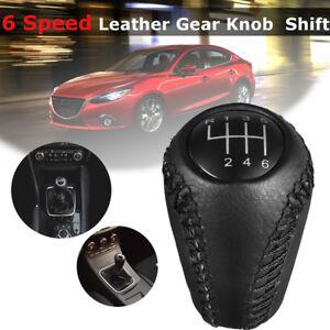 Black-Gear-Stick-Shift-Knob-6-Speed-for-Mazda-3-BL-BK-5-CR-CW-6-II-GH-L5A2