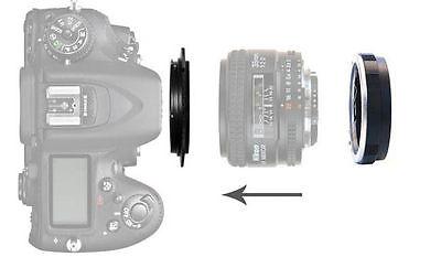 72mm Reverse Macro Adapter For Nikon Al F Mount Lens + Protection Filter Ring UK