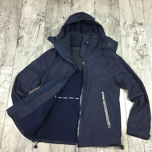 Details zu Superdry Cliff Hiker Herren Gr. L Arctic WINDCHEATER Jacke NEU Blau A6906