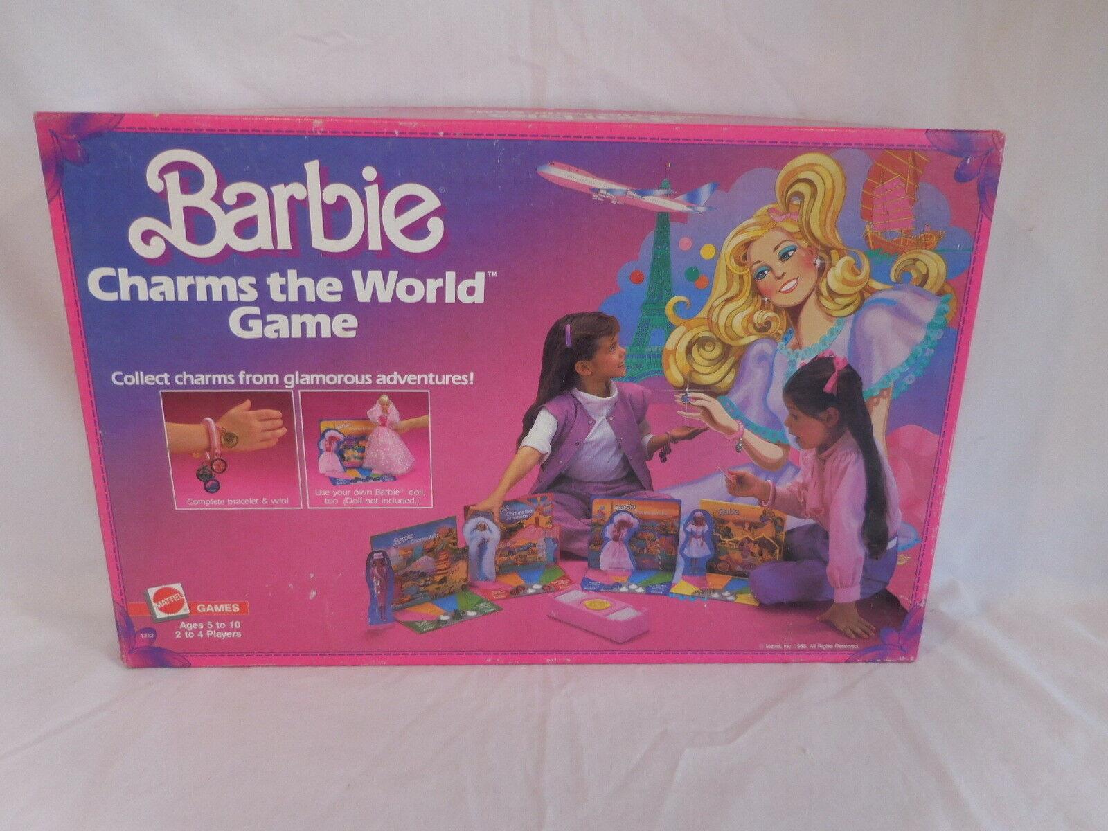 Barbie encantos del mundo juego Rara Vintage difícil de encontrar usado 1985 Mattel