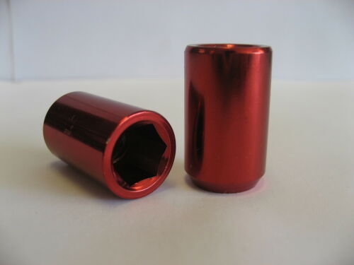 2  pcs 12X1.25 RED TUNER LUG NUTS  LUGNUT UNIVERSAL REPLACEMENT LUGNUTS