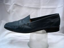 Airforce Blue all leather slip on man's Italian loafer shoe small fit size 40/7