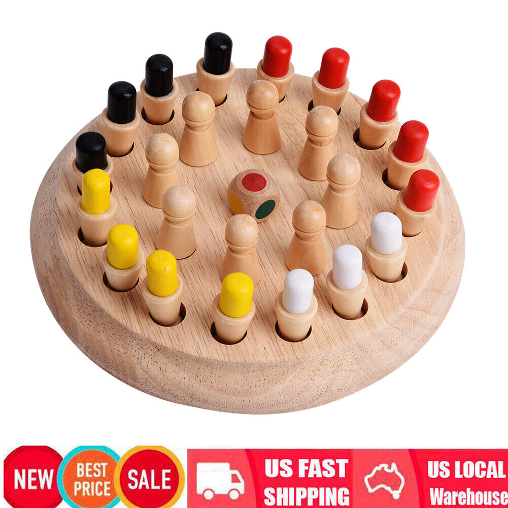 Wooden Memory Match Stick Chess Game Children Kidss Puzzle Educational Toy 6