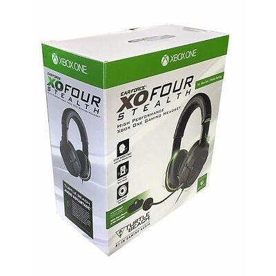 Turtle Beach Ear Force XO FOUR 4 Stealth Gaming Headset Xbox One Black/Green VG