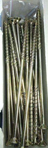 Stahl verzinkt Holzschrauben HBS mit 6 Fräsrippen TX40 10.0x240 mm 50 Stk