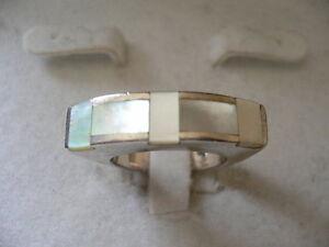 Damen-SilberRing-925-Fein-Perlmutt-Stein