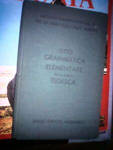 OTTO-GRAMMATICA-ELEMENTARE-TEDESCA-GIULIO-GROOS-HEIDELBERG-1938