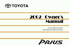 2002 Toyota Prius Owners Manual User Guide Reference Operator Book Fuses Fluids