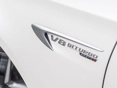 BADGE en chrome OEM AMG MERCEDES V8 Biturbo 4 Matic