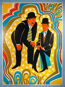 Image Is Loading 1968 Stan Laurel Amp Oliver Hardy Psychedelic Pop