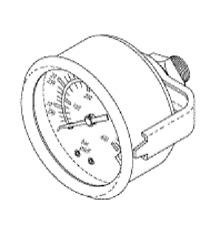 Tuttnauer 2540ehs3870ehsvalueklave 1730 Mkv Pressure Gauge Tug020 02300012