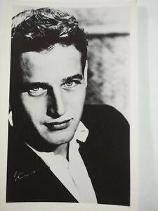 Paul-Newman-Vintage-Autografiada-Exhibit-Ventilador-B-amp-w-Foto-6-3x10-2cm