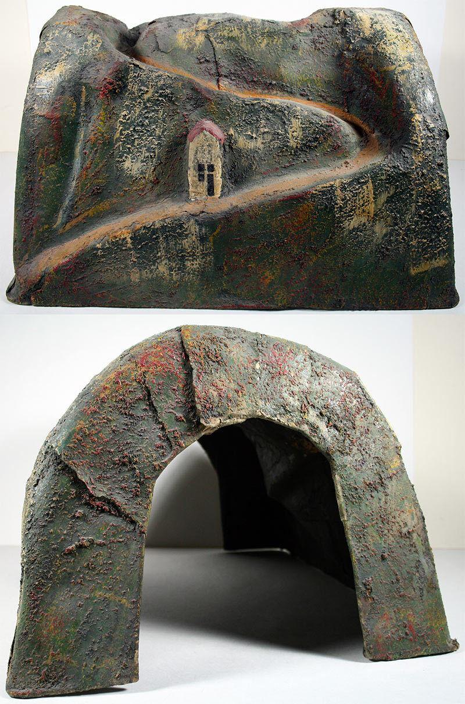 Lionel preguerra (1915-27)  o & Estándar pintado a mano papel maché túnel Raro