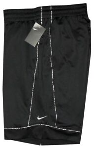 NEW-NIKE-BLACK-SILVER-BASKETBALL-BOXING-SHORTS-25-INCH-OUTSEAM-XL-FITS-36-38