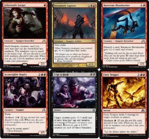 Black Red Falkenrath Gorger- Magic Gathering MTG 60 Cards Mad Vampire Deck