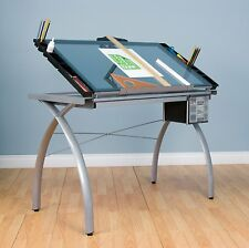 Studio Designs Futura Craft Station Glass Adjustable Drafting Table Drawing  New