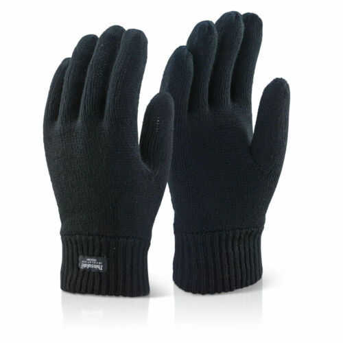 LADIES THERMAL THINSULATE KNITTED FULL FINGER GLOVES WINTER WARM WOOLLY