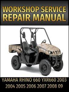 yamaha rhino 660 service repair manual yxr660 2003 2004 2005 2006 rh ebay com 2005 yamaha rhino 660 service manual 2005 yamaha rhino 660 repair manual