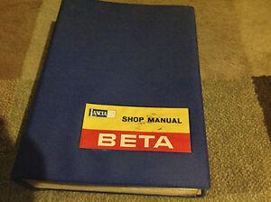 lancia beta saloons coupes service shop repair workshop manual rare rh ebay co uk Lancia Flaminia Lancia Flaminia