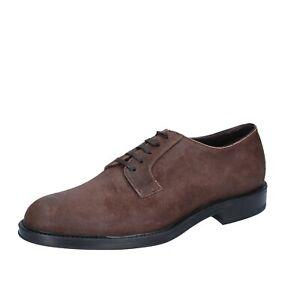 scarpe-uomo-TRIVER-FLIGHT-42-EU-classiche-marrone-camoscio-BS729
