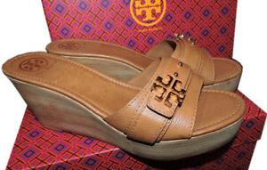 29e223dec4dca6  255 Tory Burch Beige Eloise Clogs Wedge Sandals Flats Shoe Mules ...